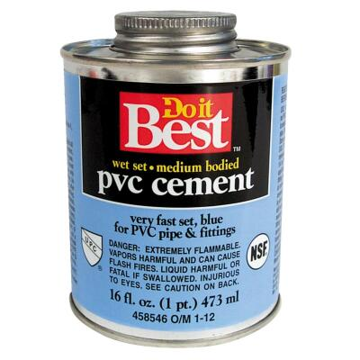 Do it Best 16 Oz. Medium Bodied Blue PVC Cement