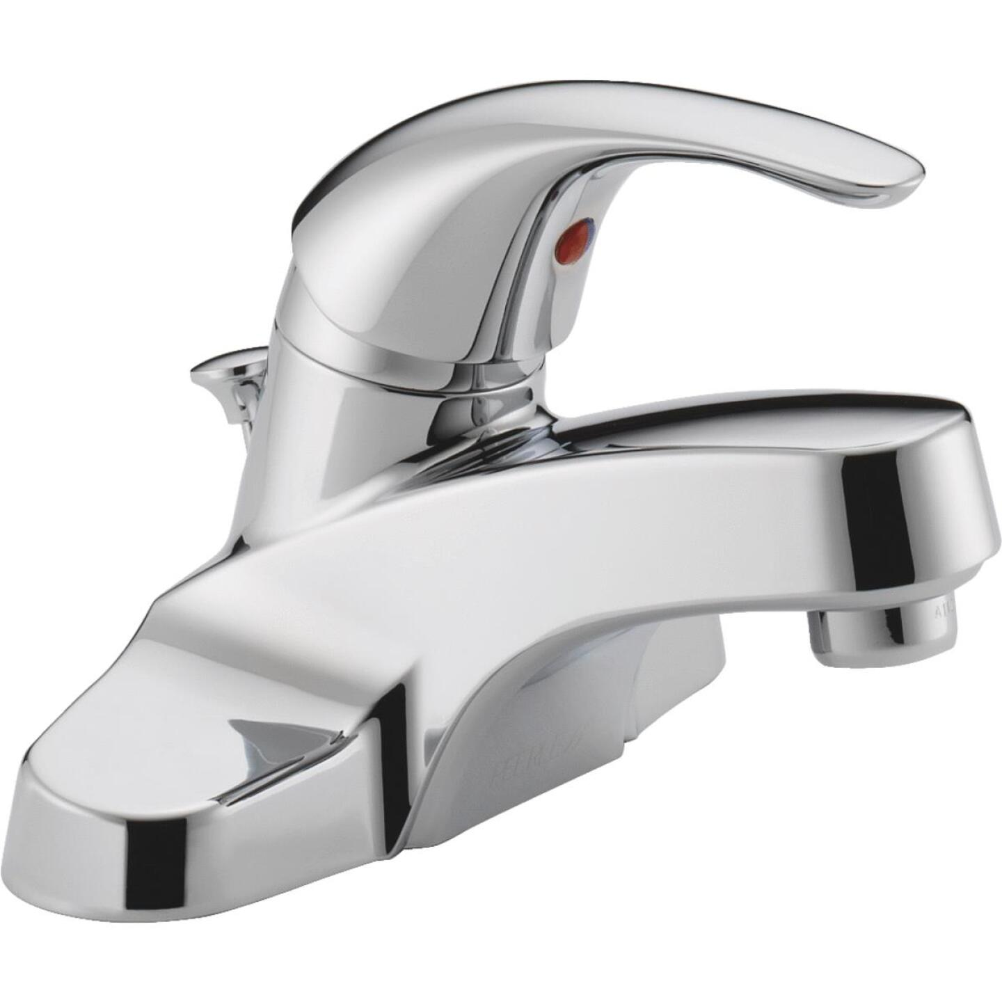 Peerless Choice Chrome 1-Handle Lever 4 In. Centerset Bathroom Faucet with Pop-Up Image 1