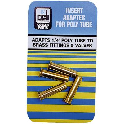 Dial 1/4 In. Poly Tube Insert Adapter (4-Pack)