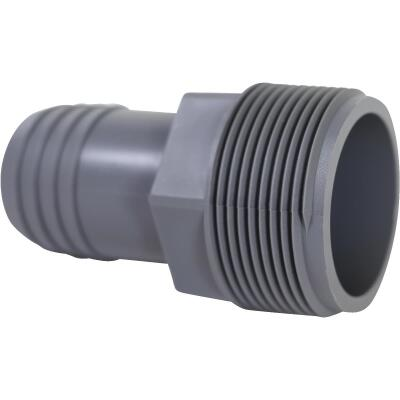 Boshart 1-1/4 In. Insert x 1-1/2 In. MIP Reducing Polypropylene Hose Adapter