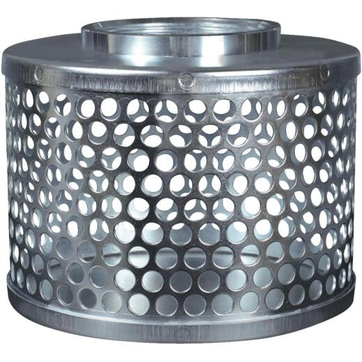 Apache 2 In. ID Plated Steel Suction Hose Strainer