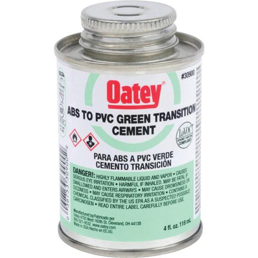 Oatey 4 Oz. Medium Bodied ABS to PVC Green Transition PVC Cement