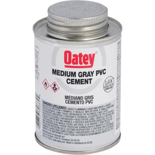 Oatey 4 Oz. 40 F to 90 F PVC Gray Cement
