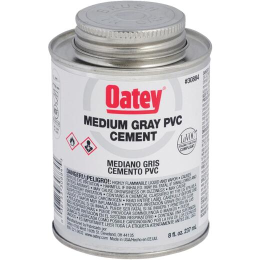Oatey 8 Oz. 40 F to 90 F PVC Gray Cement
