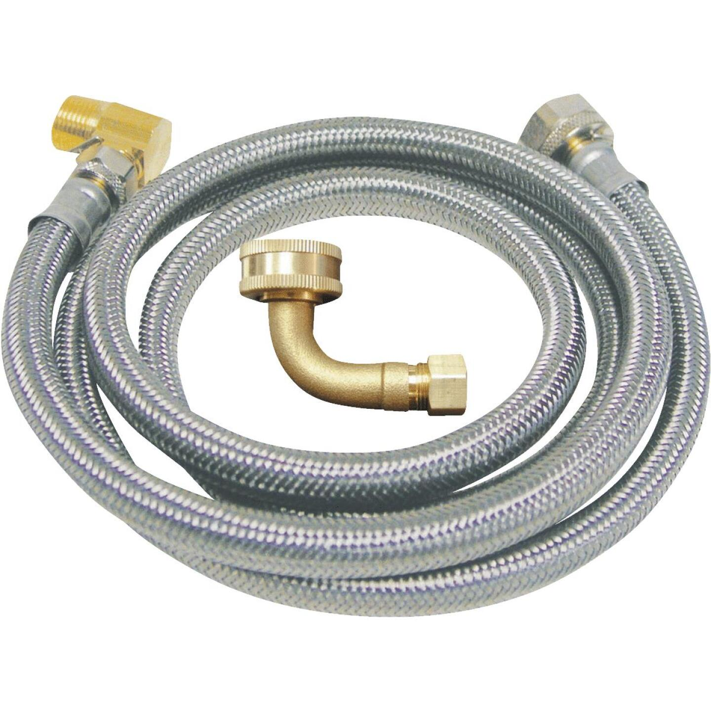 B&K 3/8 In. x 3/8 In. x 60 In. Stainless Steel Dishwasher Connector Image 1