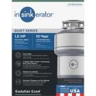 Insinkerator Evolution Excel 1 HP Garbage Disposal, 10 Year Warranty Image 1