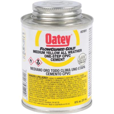 Oatey Flow Guard 8 Oz. Medium Bodied Yellow CPVC Cement