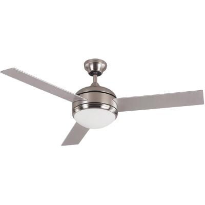 Home Impressions Calibre 48 In. Brushed Nickel Ceiling Fan with Light Kit