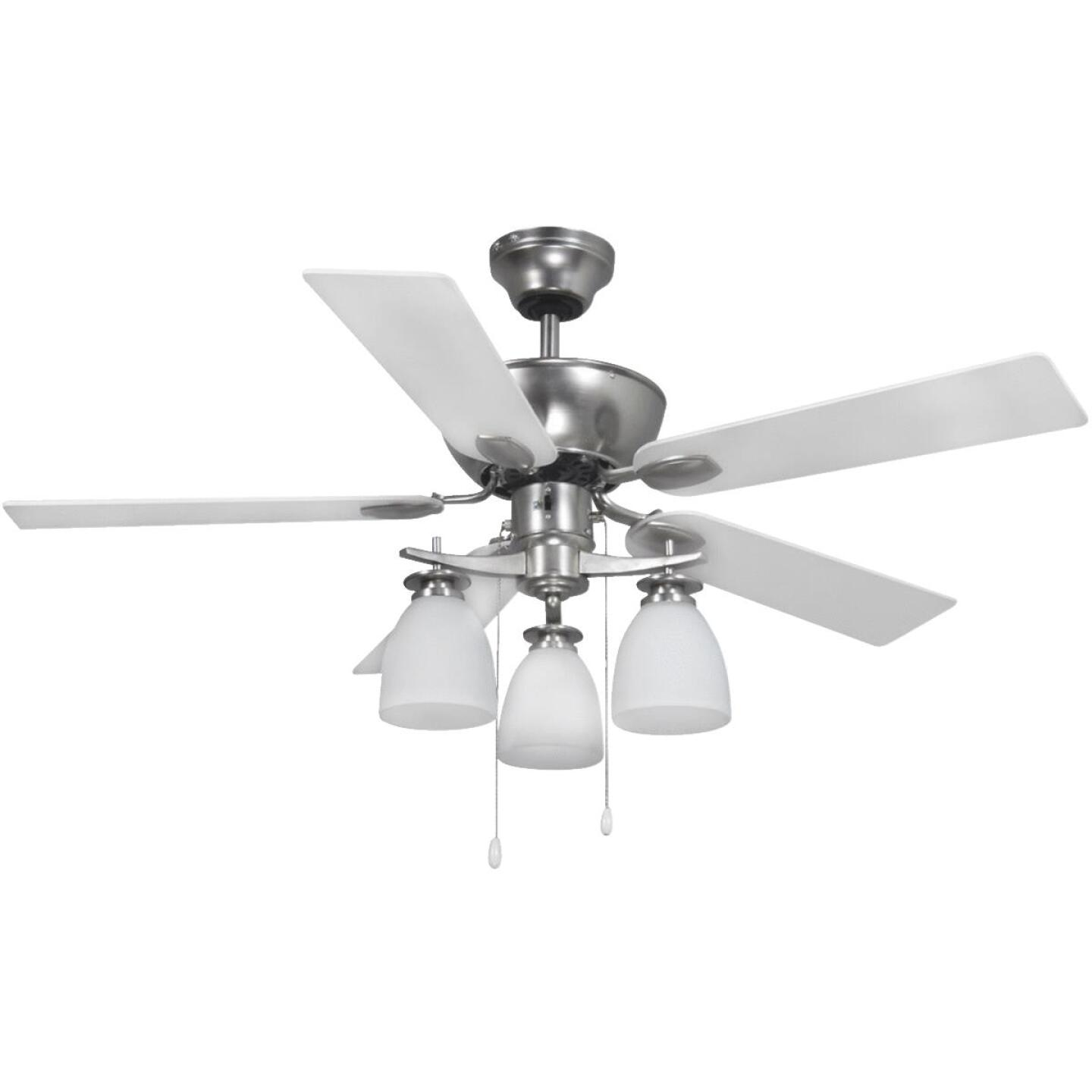 Home Impressions New Yorker 42 In. Brushed Nickel Ceiling Fan with Light Kit Image 4