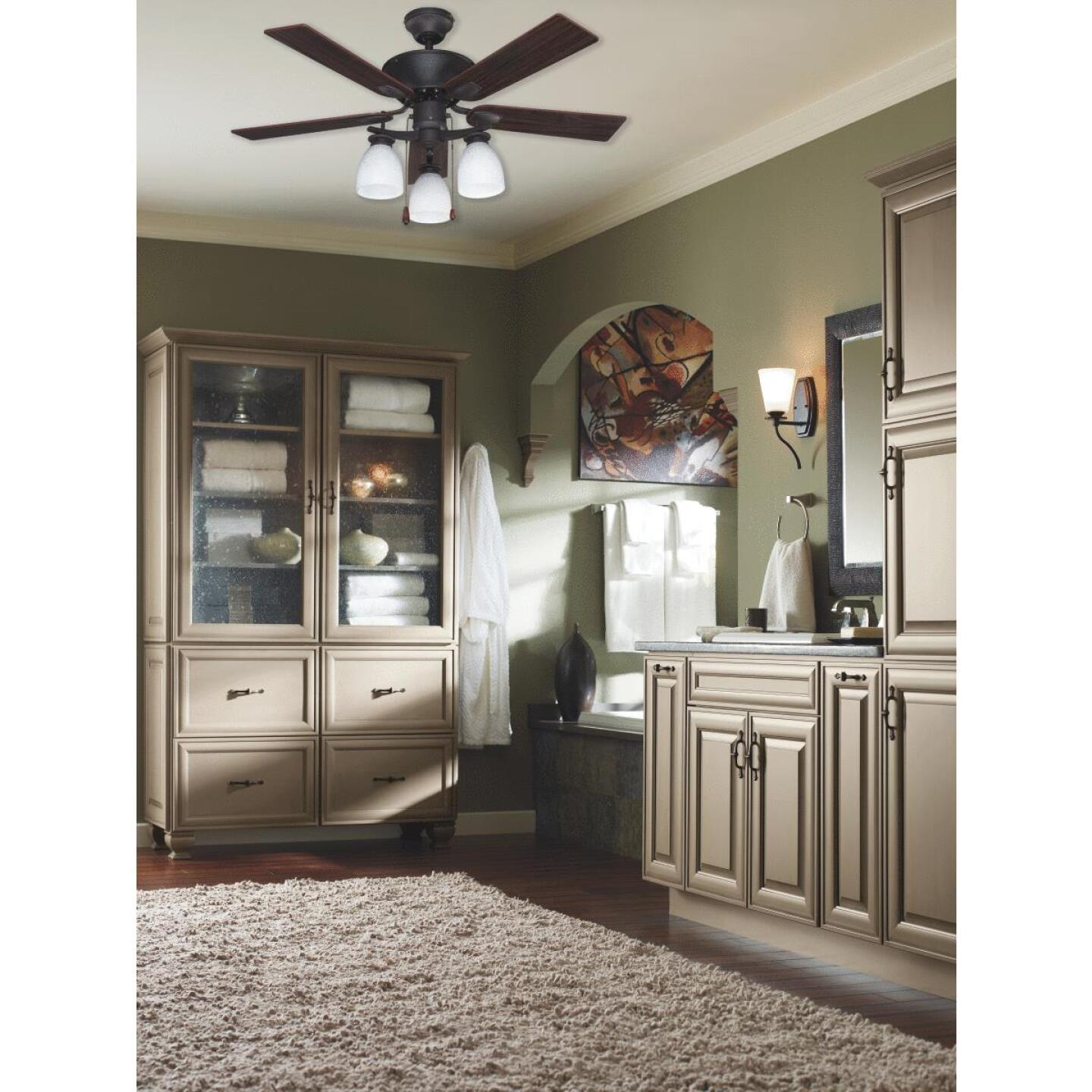 Home Impressions New Yorker 42 In. Oil Rubbed Bronze Ceiling Fan with Light Kit Image 4