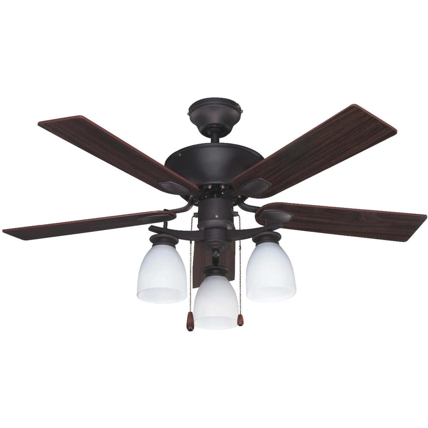 Home Impressions New Yorker 42 In. Oil Rubbed Bronze Ceiling Fan with Light Kit Image 1