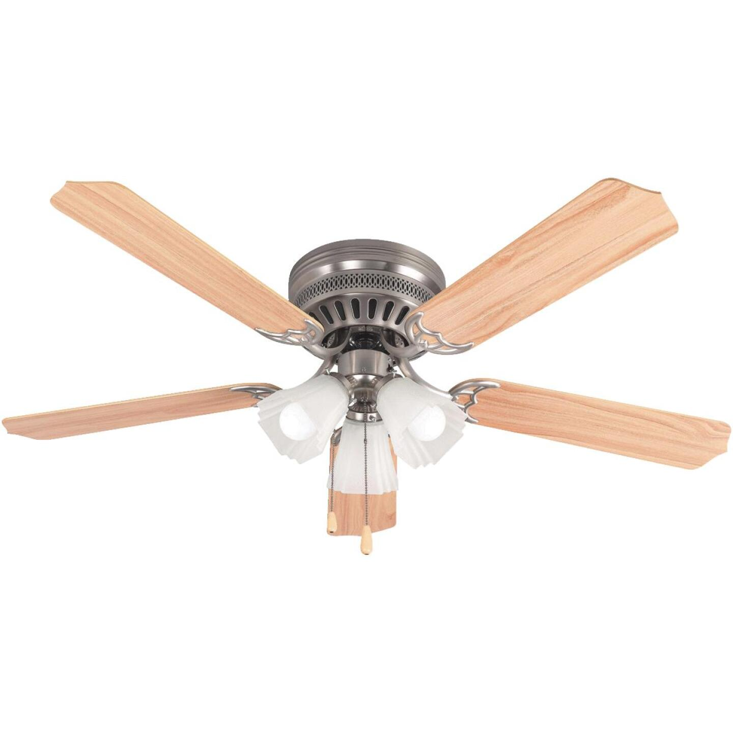 Home Impressions Piedmont 52 In. Brushed Nickel Ceiling Fan with Light Kit Image 1