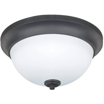 Home Impressions New Yorker 13 In. Oil-Rubbed Bronze Incandescent Flush Mount Ceiling Light Fixture