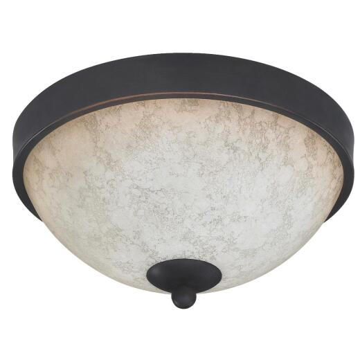 Home Impressions Warren 11 In. Rubbed Antique Bronze Incandescent Flush Mount Ceiling Light Fixture