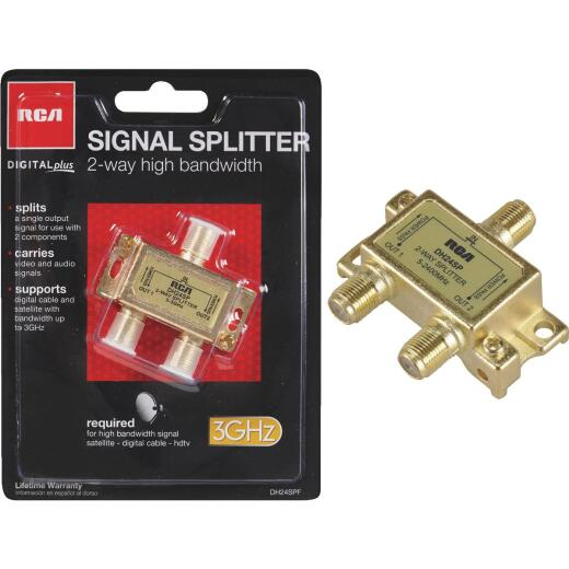 RCA Digital Plus 2-Way Coaxial Splitter