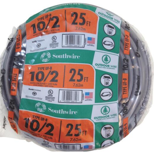 Southwire 25 Ft. 10 AWG 3-Conductor UFW/G Wire