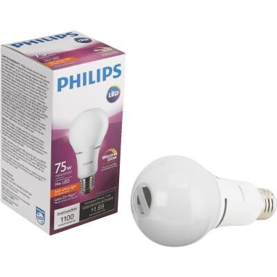 Philips Warm Glow 75W Equivalent Soft White A21 Medium Dimmable LED Light Bulb