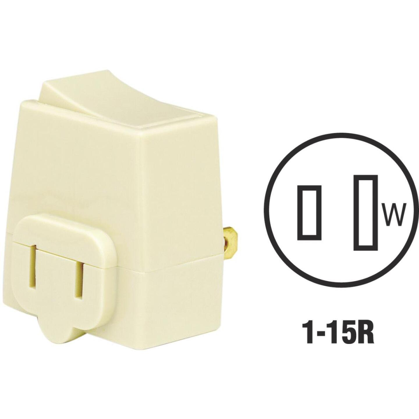 Leviton Ivory 13A Plug-In Switch Adapter Image 1