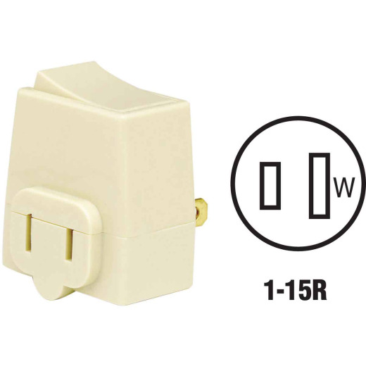 Leviton Ivory 13A Plug-In Switch Adapter