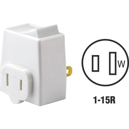 Leviton White 13A Plug-In Switch Adapter