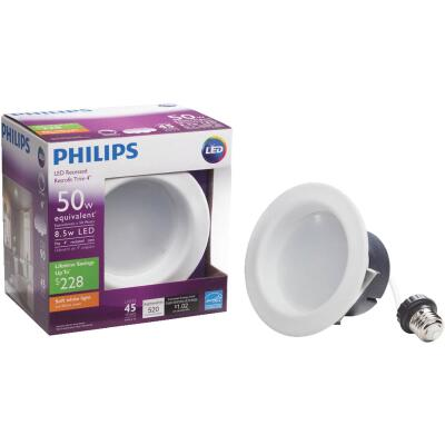Philips 4 In. Retrofit Non-IC Rated White LED Recessed Light Kit