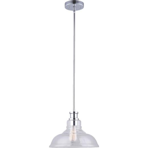 Home Impressions 1-Bulb Chrome Incandescent 11 In. Pendant Light Fixture