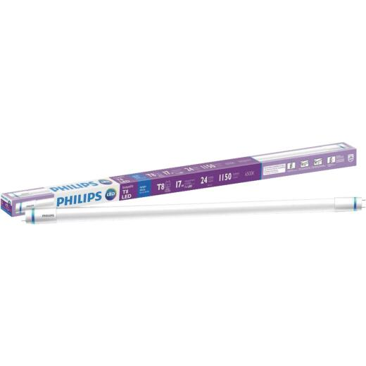 Philips InstantFit 17W Equivalent 24 In. Daylight T8 Bi-Pin LED Tube Light Bulb