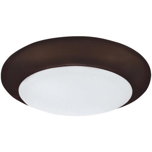 Canarm 6 In. Oil Rubbed Bronze LED Disc Flush Mount Light Fixture