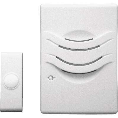 IQ America 2-Tone Plug-In Wireless White Door Chime