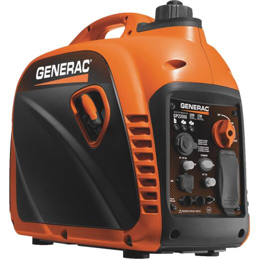 Generac 2200W Gasoline Powered Portable Inverter Generator