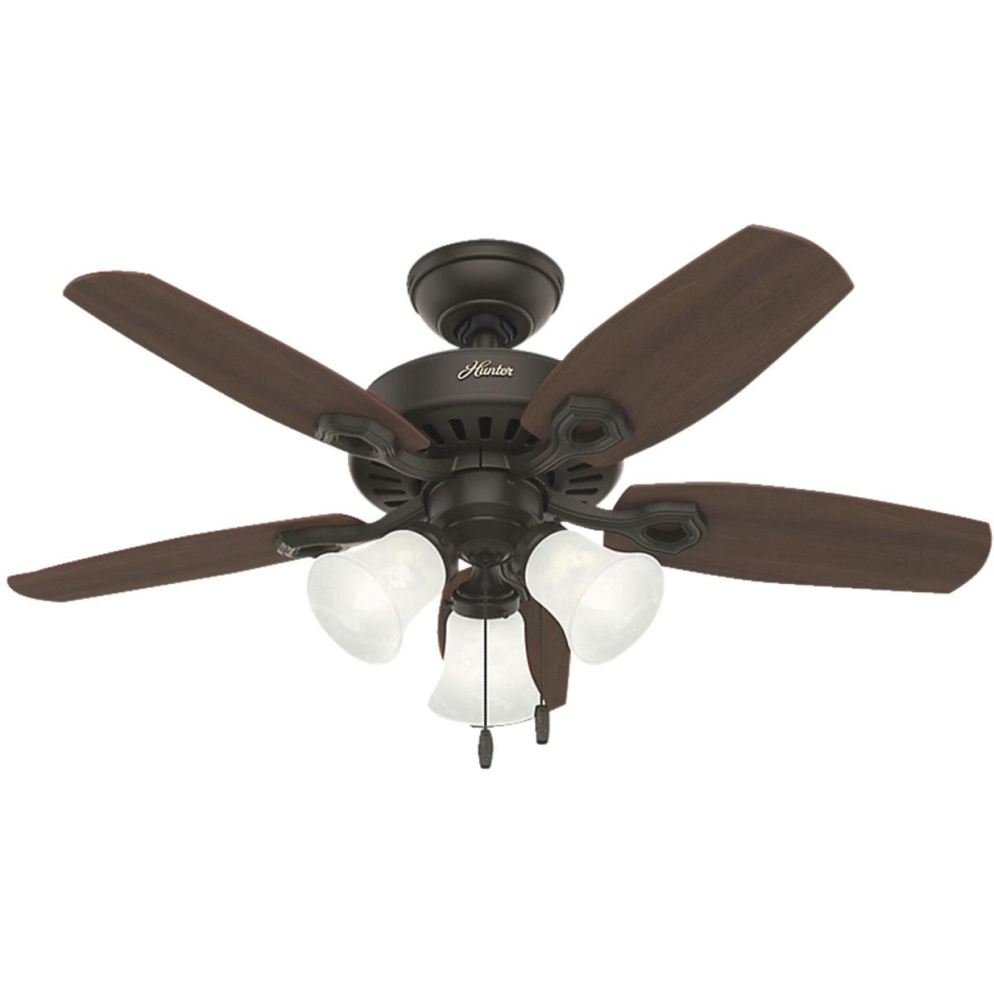 Hunter Builder Small Room 42 In. New Bronze Ceiling Fan with Light Kit Image 1