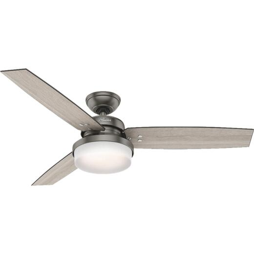 Hunter Sentinel 52 In. Brushed Slate Ceiling Fan with Light Kit
