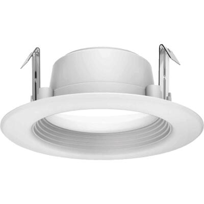 Satco 4 In. Retrofit Non-IC Rated White LED Recessed Light Kit
