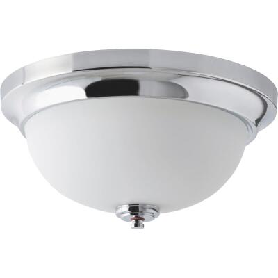Home Impressions Crawford 13 In. Chrome Incandescent Flush Mount Light Fixture