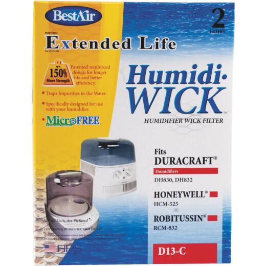 BestAir Extended Life Humidi-Wick D13 Humidifier Wick Filter (2-Pack)