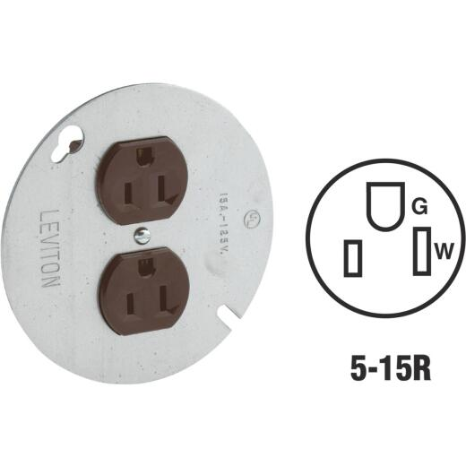 Leviton 4 In. Brown Round Box Cover