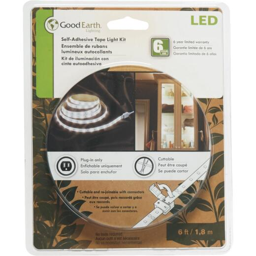 Good Earth Lighting 6 Ft. L. Plug-In White LED Under Cabinet Tape Light