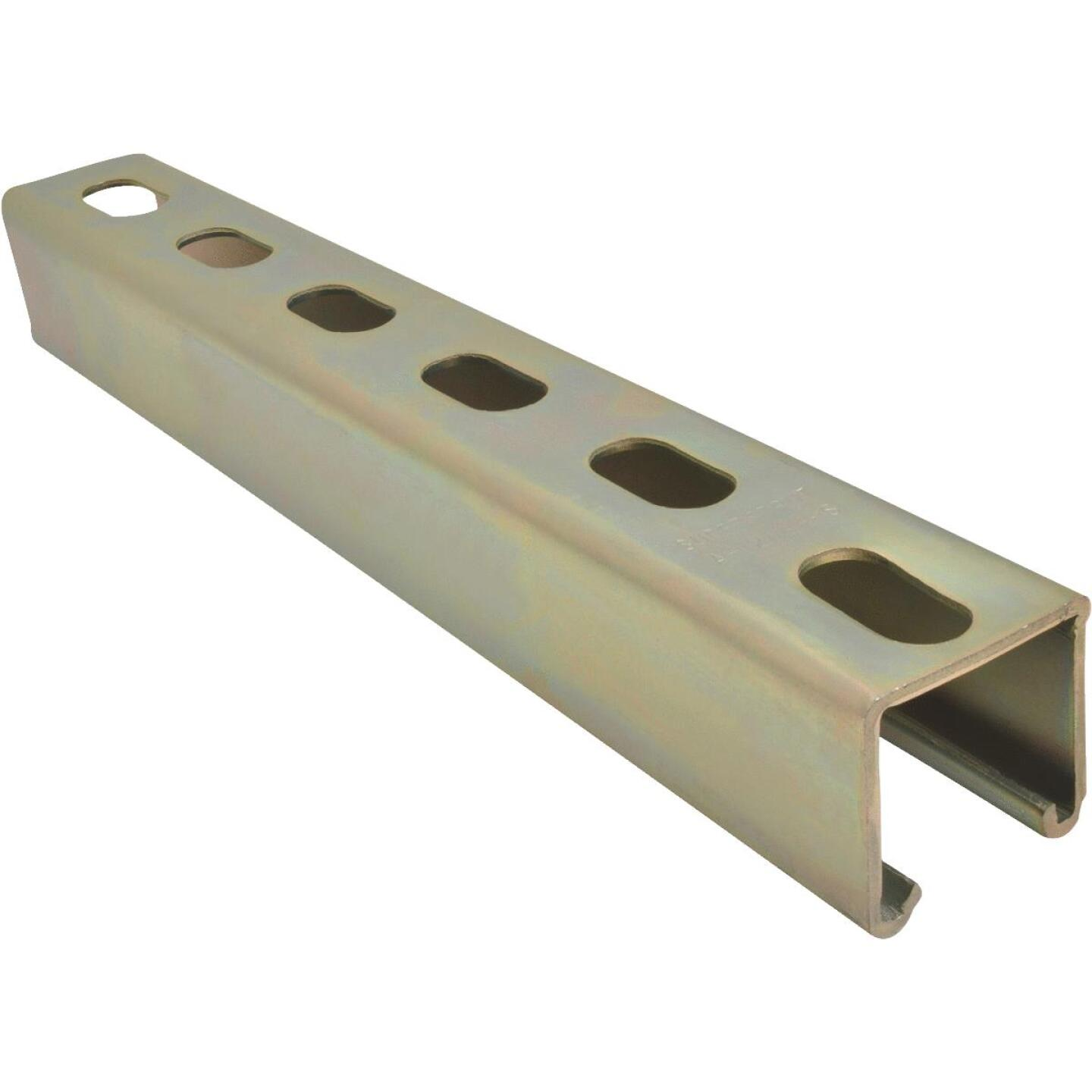 Superstrut 4 ft. 12 Ga. Gold Galvanized Electroplated Zinc Strut Channel Image 1