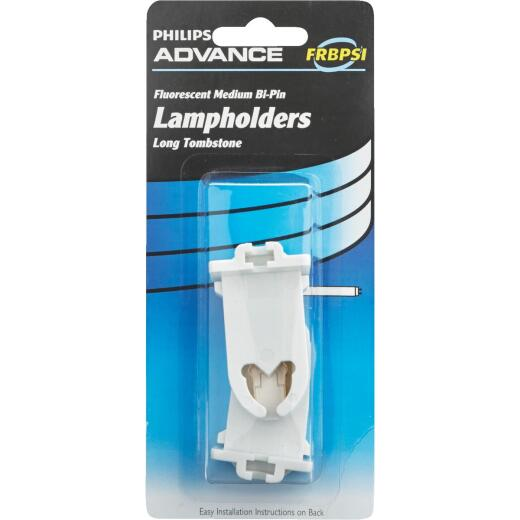 Philips Long Tombstone Medium Bi-Pin T8/T12 Fluorescent Lampholder (2-Pack)