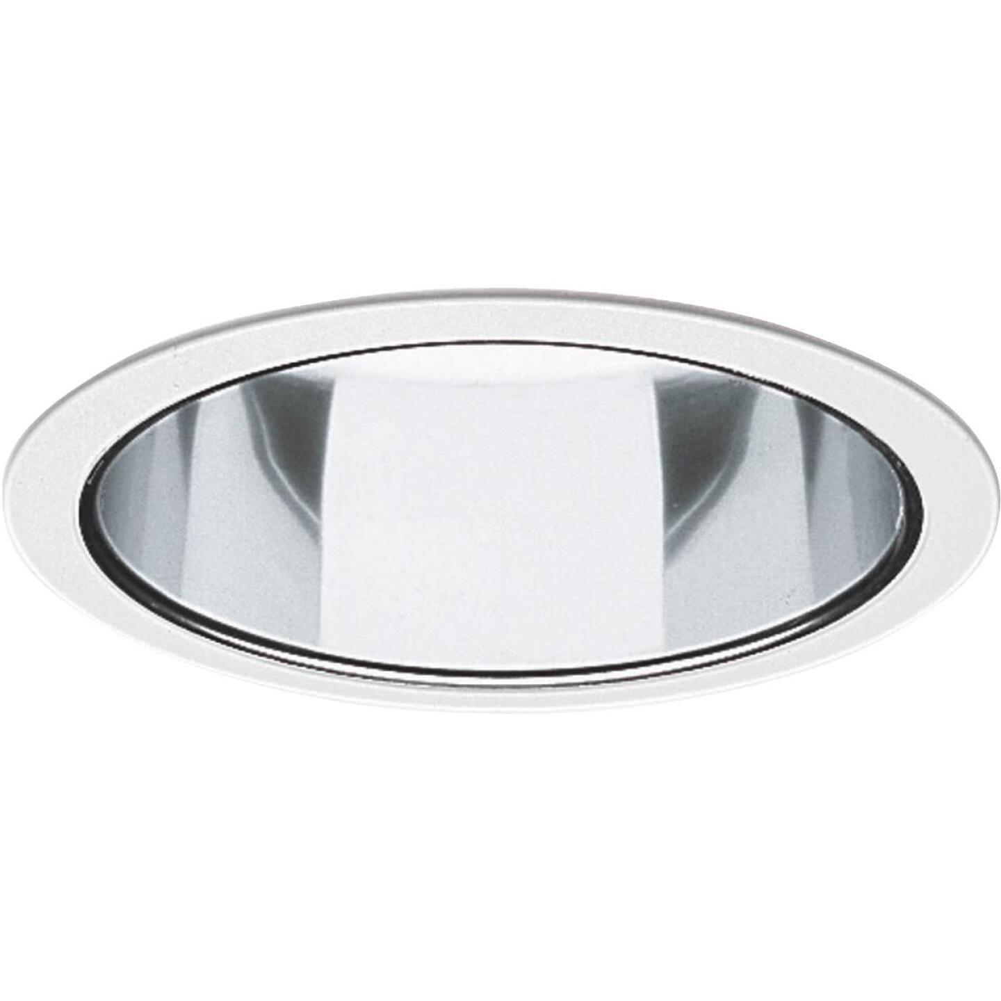 Thomas 6 In. White Trim w/Clear Reflector Recessed Fixture Trim Image 1