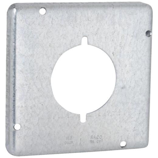 Raco 2.156 In. Dia. Receptacle 4-11/16 In. x 4-11/16 In. Square Device Cover