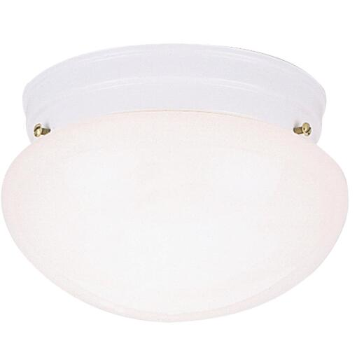 Home Impressions 9-1/2 In. White Incandescent Flush Mount Ceiling Light Fixture