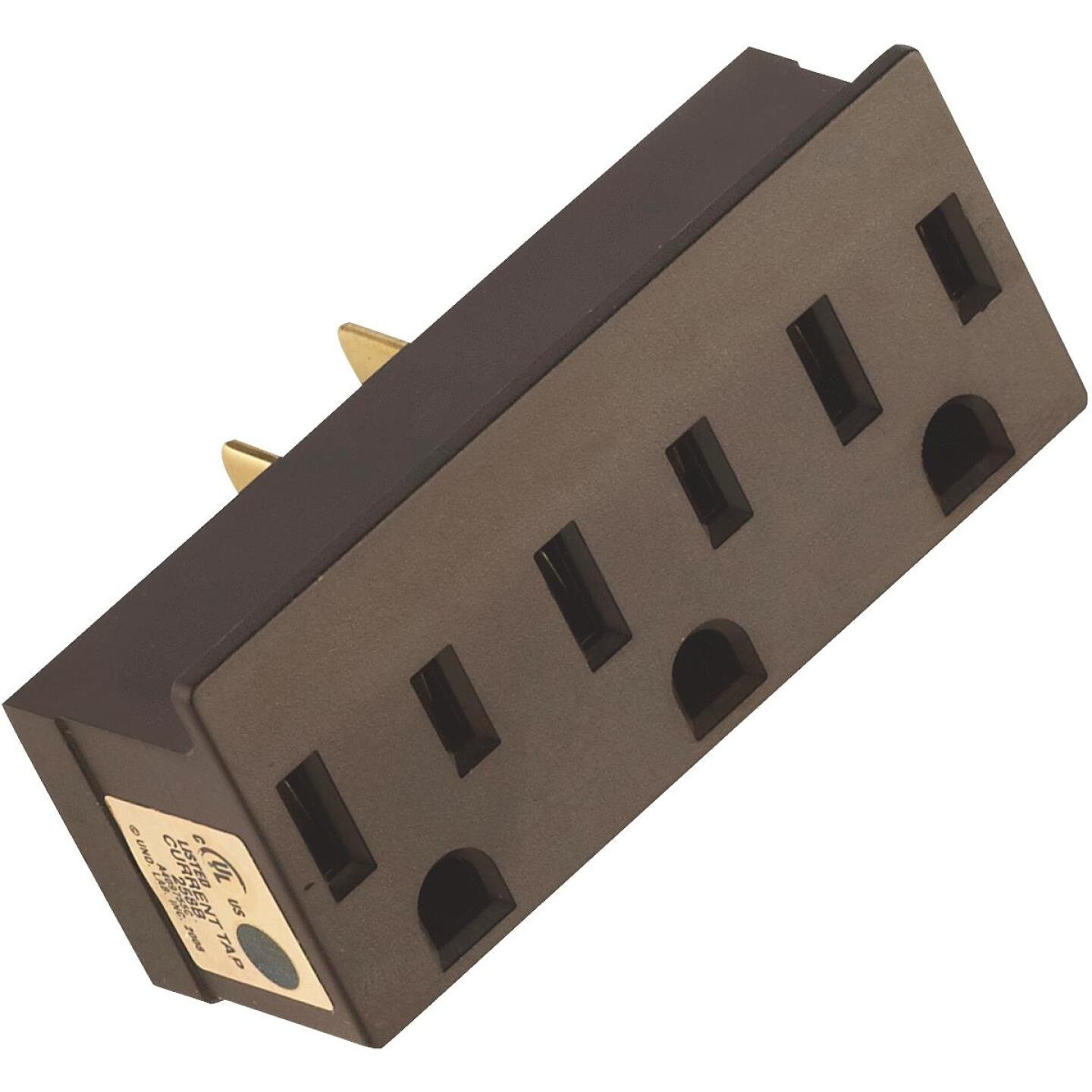 Leviton Brown 15A 3-Outlet Tap Image 2