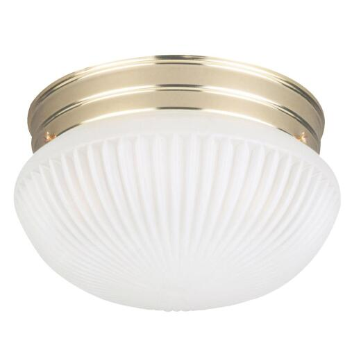 Home Impressions 9-1/2 In. Polished Brass Incandescent Flush Mount Ceiling Light Fixture
