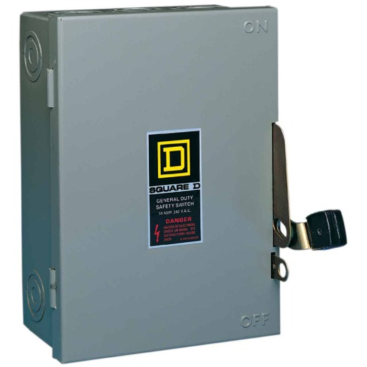 Square D 30A D Series Indoor Cartridge Fusible Safety Switch With Neutral