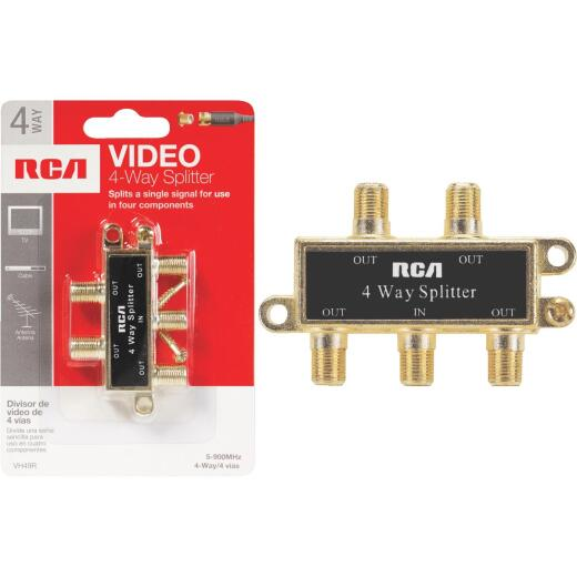 RCA 4-Way Coaxial Splitter