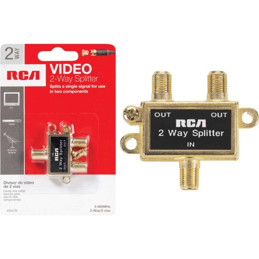 RCA 2-Way Coaxial Splitter