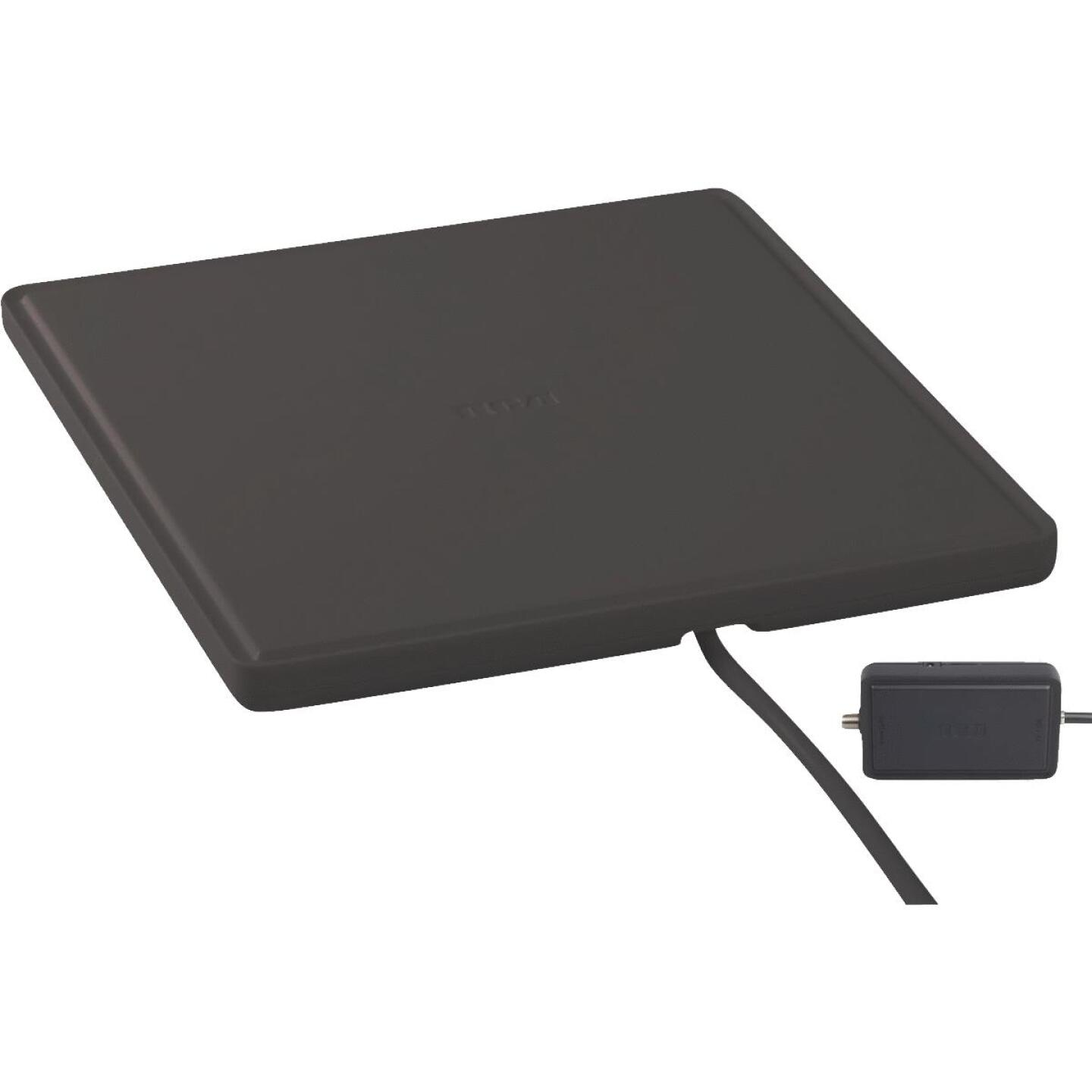 RCA Platinum Series Black 8.53 In. Amplified Flat Indoor Antenna Image 1