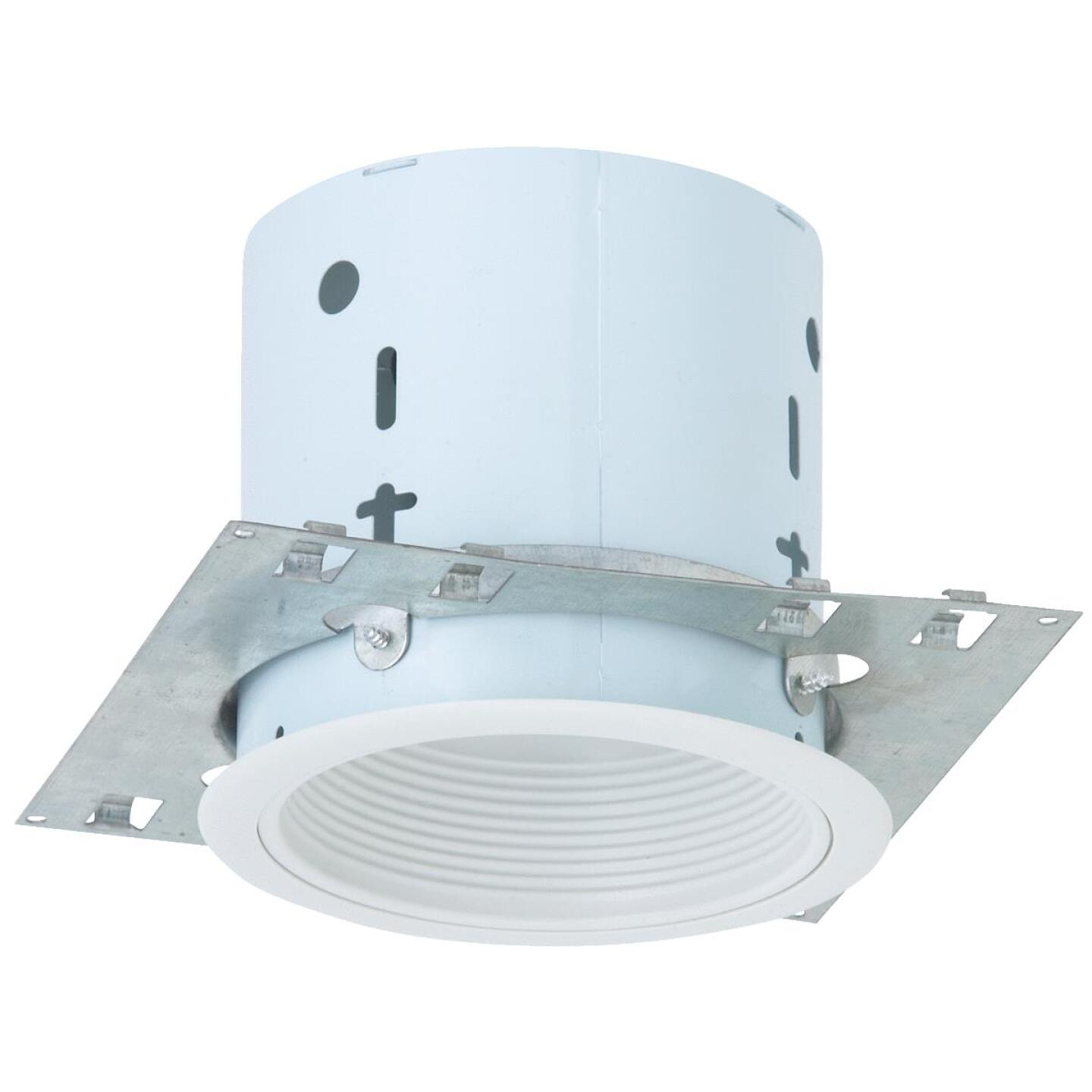 Thomas 5 In. New Construction/Remodel Non-IC Rated White Baffle Recessed Light Kit Image 1