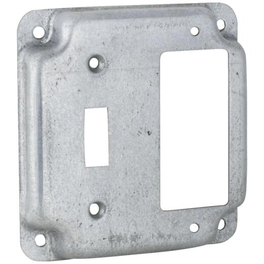Raco GFI Outlet and Toggle Switch 4 In. x 4 In. Square Device Cover